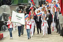 Team RUS - Opening Ceremony - Alltech FEI World Equestrian Games™ 2014 - Normandy, France.<br /> © Hippo Foto Team - Jon Stroud<br /> 24/06/14