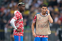 BERN, SWITZERLAND - SEPTEMBER 14: Paul Pogba (left) and Cristiano Ronaldo (right) of Manchester United before the UEFA Champions League group F match between BSC Young Boys and Manchester United at Stadion Wankdorf on September 14, 2021 in Bern, Switzerland. (Photo by FreshFocus/MB Media)
