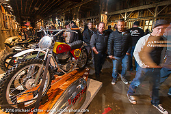 Kickstart Garage's 1971 R-75-S BMW with a Bultaco racer on it's sidecar at the One Show motorcycle show in Portland, OR. February 12, 2016. ©2016 Michael Lichter