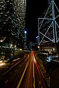 Night traffic in Hong Kong