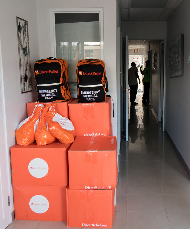 OCTOBER 6, 2017--AGUADILLA, PUERTO RICO ---<br /> A Direct Relief delivery of medical aid to a Corporation de Servicios Medicos clinic in Aguadilla following the path of Hurricane Maria through Puerto Rico.<br /> (Photo by Angel Valentin/Freelance)