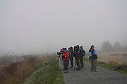 Birding in thick fog at Nisqually National Wildlife Refuge. Photo by Donna J. Hahn.