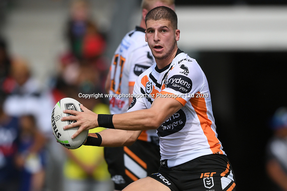 Wests Tigers Adam Doueihi in action in the NRL Trial, Vodafone Warriors v Wests Tigers, Rotorua Stadium, Rotorua, Sunday, March 01, 2020. Copyright photo: Kerry Marshall / www.photosport.nz