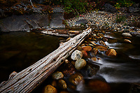 Merced River Meditation. Image taken with a Nikon D3 camera and 24-70 mm f/2.8 lens (ISO 200, 24 mm, f/16, 1.6 sec). Camera mounted on a tripod.