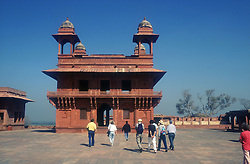 DiwanEKhas and astrologer's seat at Fatehpur Sikri; ancient site near Agra; India,