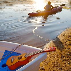 Fishing and Paddling on the Potomac River near Algonkian Park