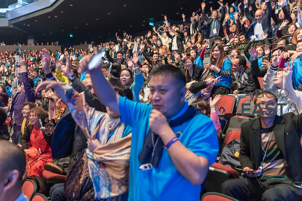"""Presentation """"How to make money with the Futuro Business"""" by Hugh-Paul Ward during the FutureNet World Convention in Studio City Event Center, Macau, China, on 25 November 2017. Photo by Graham Uden/Studio EAST"""