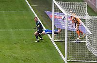 Hull City's Tom Eaves (behind goal) scores the opening goal <br /> <br /> Photographer Alex Dodd/CameraSport<br /> <br /> The EFL Sky Bet League One - Hull City v Gillingham - Saturday 27th March 2021 - KCOM Stadium - Kingston upon Hull<br /> <br /> World Copyright © 2021 CameraSport. All rights reserved. 43 Linden Ave. Countesthorpe. Leicester. England. LE8 5PG - Tel: +44 (0) 116 277 4147 - admin@camerasport.com - www.camerasport.com