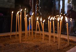 THEMENBILD - Kerzen in der Lazarus-Kirche an einem heissen Sommertag, aufgenommen am 16. August 2018 in Larnaka, Zypern // Candels in the Lazarus Church on a hot summer Day, Larnaca, Cyprus on 2018/08/16. EXPA Pictures © 2018, PhotoCredit: EXPA/ JFK