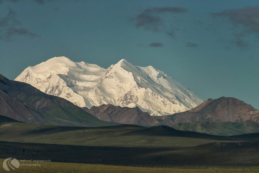 Denali National Park, Alaska.  93 mile Ride to the End of the Road, Denali Flight to Mt Denali Peaks