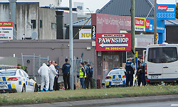 March 15, 2019 - Christchurch, Canterbury, New Zealand - Police at the Linwood Islamic Centre crime scene after a shooting incidents at Linwood Avenue and the Mosque in Deans Avenue, Christchurch, New Zealand. At least 49 people were killed and 20 seriously injured in mass shootings at two mosques in the New Zealand city of Christchurch. 48 people, including young children with gunshot wounds, were taken to hospital. Three people were arrested in connection with the shootings. (Credit Image: © David Alexander/SNPA via ZUMA Wire)