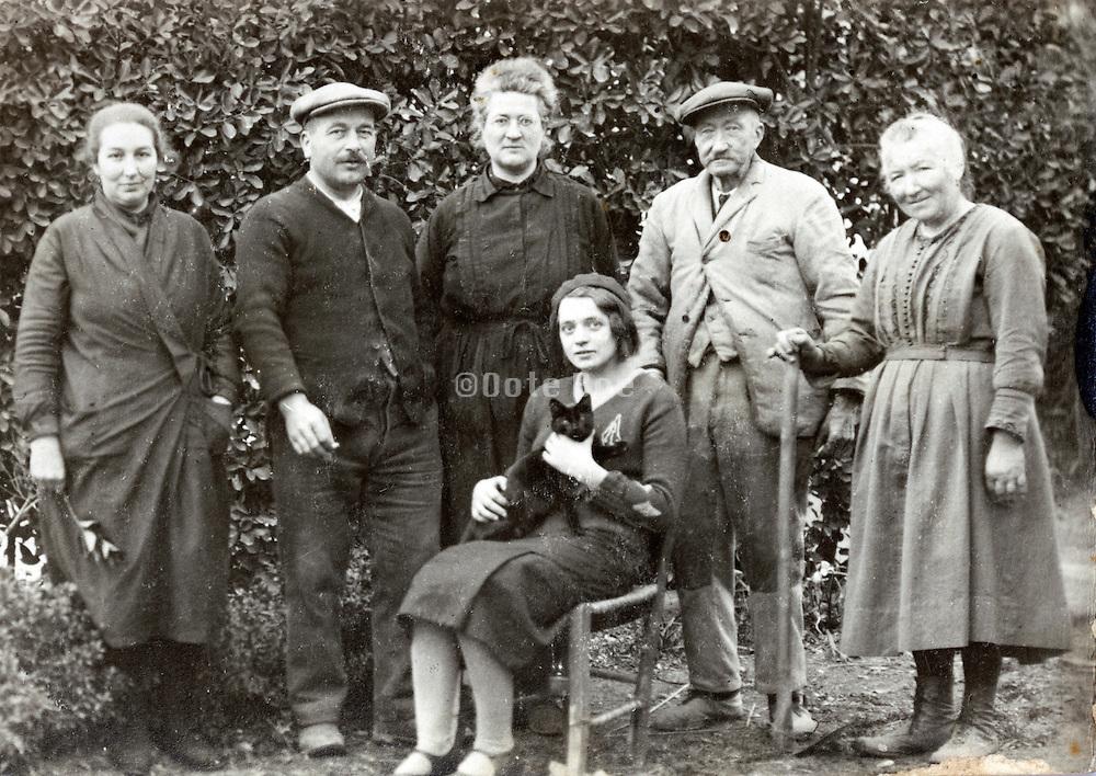 three generations family portrait France