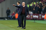 Mike Phelan, the Hull City manager giving his  instructions from the touchline. Premier league match, West Ham Utd v Hull city at the London Stadium, Queen Elizabeth Olympic Park in London on Saturday 17th December 2016.<br /> pic by John Patrick Fletcher, Andrew Orchard sports photography.