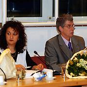 Intallatie nieuwe raadsleden gemeente Huizen, Leefbaar Huizen fractie Begoña Guerrero Garcia en Nol van der Helm