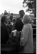Funeral of Eamon DeValera.   (J72)..1975..02.09.1975..09.02.1975..2nd September 1975..Today saw the funeral of Eamon DeValera. He was laid to rest beside his wife Sinead in Glasnevin Cemetery,Dublin. Dignitries from all around the world attended at the funeral...Family members of Eamon DeValera accept condolences from members of the public.