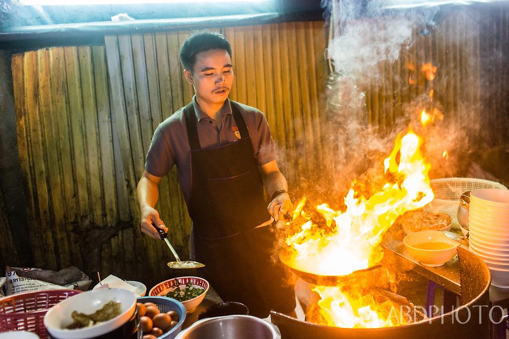 kuay teow kua gai restaurant in Bangkok, Thailand Bangkok Thailand