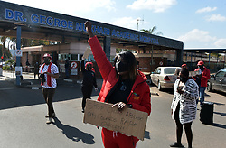 South Africa - Pretoria - 09 July 2020 - Tshwane EFF picketing outside Dr Deorge Mukhari Academic Hospital where a 2-year-old child was allegedly raped.<br /> Picture: Oupa Mokoena/African News Agency (ANA)