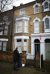 © Licensed to London News Pictures. 11/01/2016. London, UK. The Brixton house that David Bowie lived in. The Death of David Bowie, who was born in Brixton, has been announced today.  Photo credit: Peter Macdiarmid/LNP