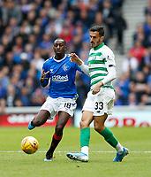 Football - 2019 / 2020 Ladbrokes Scottish Premiership - Rangers vs. Celtic<br /> <br /> Hatem Abd Elhamed of Celtic vies with Glen Kamara of Rangers, at Ibrox Stadium.<br /> <br /> COLORSPORT/BRUCE WHITE