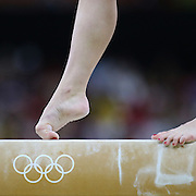 Gymnastics - Olympics: Day 2   Irina Sazonova #353 of Iceland performing her routine on the Balance Beam during the Artistic Gymnastics Women's Team Qualification round at the Rio Olympic Arena on August 7, 2016 in Rio de Janeiro, Brazil. (Photo by Tim Clayton/Corbis via Getty Images)