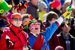 Fans during Men 12.5 km Pursuit competition of the e.on IBU Biathlon World Cup on Saturday, March 8, 2014 in Pokljuka, Slovenia. Photo by Vid Ponikvar / Sportida