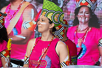 Marcus  Santana and the Tribo Drummers  at the Also Festival 2021 at Cpmton Verney,photo by Mark Anton Smith<br /> .