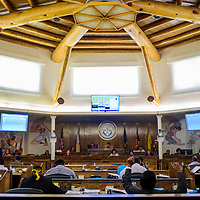 The Navajo Nation Council convenes in the newly renovated council chambers in Window Rock Monday.