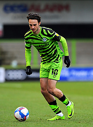 Aaron Collins of Forest Green Rovers pushes forward with the ball- Mandatory by-line: Nizaam Jones/JMP - 16/01/2021 - FOOTBALL - innocent New Lawn Stadium - Nailsworth, England - Forest Green Rovers v Port Vale - Sky Bet League Two