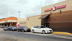 October 7, 2016 - Florida, U.S. - The morning after hurricane Matthew October 7, 2016, people crowd into the Lantana Dunkin Donuts located on S. Dixie Hwy. People said they suffered no real damage and that they felt we dodged a bullet. Damon Higgins / The Palm Beach Post (Credit Image: © Damon Higgins/The Palm Beach Post via ZUMA Wire)