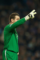 MANCHESTER, ENGLAND - Sunday, February 13, 2010: Manchester City's goalkeeper Shay Given during the FA Cup 5th Round match against Stoke City at the City of Manchester Stadium. (Photo by David Rawcliffe/Propaganda)  MANCHESTER, ENGLAND - Sunday, February 13, 2010: Manchester City xxxx and Stoke City's xxxx during the FA Cup 5th Round match at the City of Manchester Stadium. (Photo by David Rawcliffe/Propaganda)