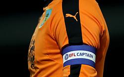 Burnley goalkeeper Thomas Heaton wears the captain's armband