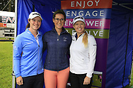 Leona Maguire (IRL) Carla Reynolds and Stephanie Meadow (NIR)at the Golf4Girls4Life festival at the ISPS Handa World Invitational, Galgorm Castle Golf Club, Ballymena, Antrim, Northern Ireland. 14/08/2019.<br /> Picture Fran Caffrey / Golffile.ie<br /> <br /> All photo usage must carry mandatory copyright credit (© Golffile   Fran Caffrey)