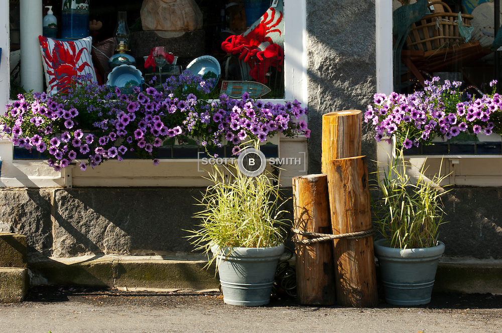 Sheepscot River Pottery Main Street display, Damariscotta, Maine