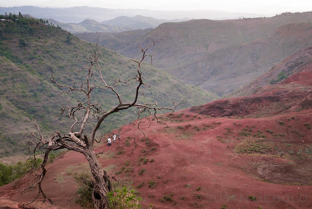 The countryside near Lalibela, Ethiopia.