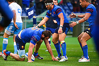 Joie France - Yoann MAESTRI - 15.03.2015 - Rugby - Italie / France - Tournoi des VI Nations -Rome<br /> Photo : David Winter / Icon Sport