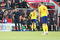 Football - 2021 / 2022 EFL Sky Bet Championship -AFC Bournemouth vs. West Bromwich Albion - The Vitality Stadium<br /> <br /> West Bromwich Albion Head Coach Valerien Ismael gives a thumbs up to goal scorer Dara O'Shea of West Bromwich Albion during the Championship match at the Vitality Stadium (Dean Court) Bournemouth  <br /> <br /> COLORSPORT/Shaun Boggust