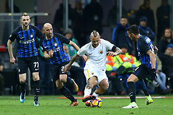 January 21, 2018 - Milan, Italy - Radja Nainggolan of Roma in action  during the Serie A match between FC Internazionale and AS Roma at Stadio Giuseppe Meazza on January 21, 2018 in Milan, Italy. (Credit Image: © Matteo Ciambelli/NurPhoto via ZUMA Press)