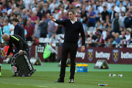 Swansea City Manager Paul Clement in the technical area. Premier league match, West Ham Utd v Swansea city at the London Stadium, Queen Elizabeth Olympic Park in London on Saturday 8th April 2017.<br /> pic by Steffan Bowen, Andrew Orchard sports photography.