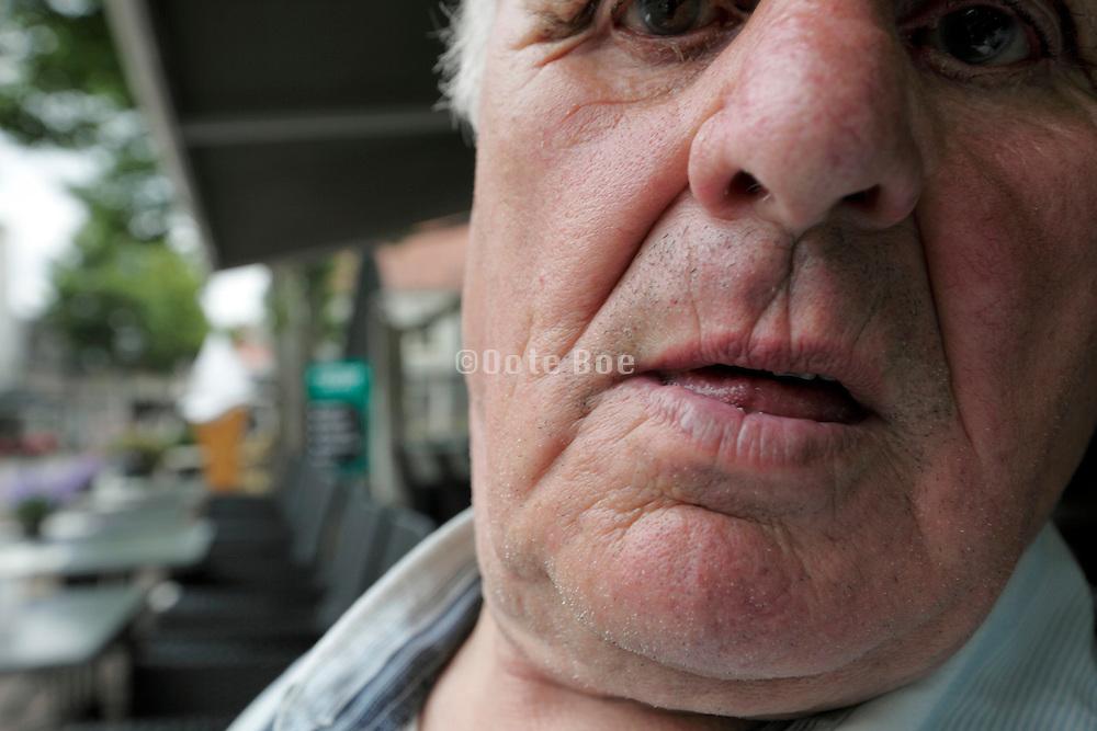 portrait of an elderly man 84 years