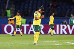2019?6?13?.    ?????????——B??????????.    6?13????????????????????.    ???????????2019??????????B??????????1?0??????.    ?????????..(SP)FRANCE-PARIS-SOCCER-FIFA WOMEN'S WORLD CUP-RSA VS CHN.Jermaine Seoposenwe (C) of South Africa reacts after a Group B match between South Africa and China at the 2019 FIFA Women's World Cup in Paris, France, June 13, 2019. China won 1-0. (Credit Image: © Xinhua via ZUMA Wire)