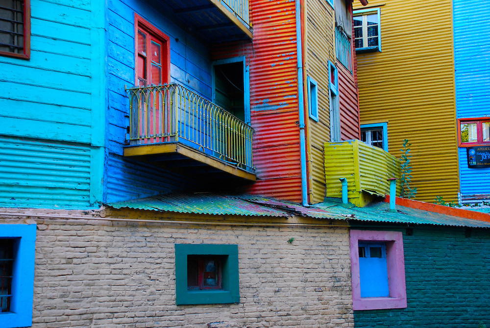 Caminito Street, in La Boca, Caminito is one of the most visited tourist attactions in Buenos Aires