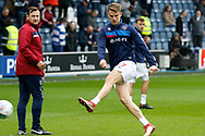 QPR forward Matt Smith (17) warms up before kick off during the EFL Sky Bet Championship match between Queens Park Rangers and Birmingham City at the Loftus Road Stadium, London, England on 28 April 2018. Picture by Andy Walter.