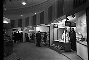 14/01/1963<br /> 01/14/1963<br /> 14 January 1963<br /> Opening of Irish Hotel and Catering Trades Exhibition at the Mansion House, Dublin. A general view of the exhibits including Leydons Limited, (Three Cooks); Newbridge Cutlery Co. Ltd.; Toni Expresso Machines Ltd. and I.W.I.