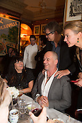 PLAXY LOCATELLI; DINOS CHAPMAN; INDRE SERPYTYTE;, Charles Finch and  Jay Jopling host dinner in celebration of Frieze Art Fair at the Birley Group's Harry's Bar. London. 10 October 2012.