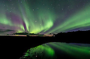 Northern lights in Skaftafell National Park, East of Iceland