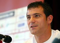 Fotball<br /> Serbia<br /> 27.05.2010<br /> Leogang Østerrike<br /> Foto: Gepa/Digitalsport<br /> NORWAY ONLY<br /> <br /> FIFA Weltmeisterschaft 2010 in Suedafrika, Vorberichte, Vorbereitung, Trainingslager Nationalteam Serbien, Pressekonferenz. <br /> <br /> Bild zeigt Dejan Stankovic (SRB).