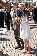 De koninklijke familie is in Zwolle voor de viering van Koningsdag. /// The royal family is in Zwolle for the celebration of King's Day.<br /> <br /> Op de foto / On the photo:  Prins Constantijn en Prinses Laurentien