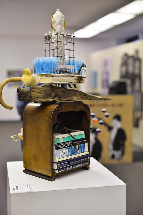 Art displayed at Summit Artspace during Akron Art Prize 2014.