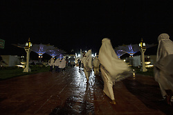 May 5, 2019 - Banda Aceh, Aceh, Indonesia - Indonesian Muslims are seen gathering at the Baiturrahman Mosque to perform tarawih prayers during the fasting month of Ramadan in Banda Aceh province..Muslims are required not to eat, drink, and have sex from dawn to dusk during the month of Ramadan. (Credit Image: © Zikri Maulana/SOPA Images via ZUMA Wire)