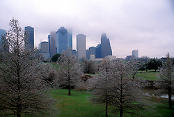 Stock photo of a western winter view of the skyline